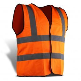 Chaleco De Seguridad Reflejante Naranja MIKELS CHS-2 MIK-CHS-2 MIKELS
