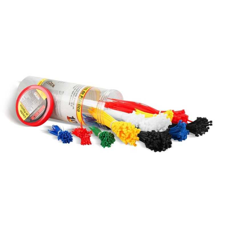 Cinchos De Plástico Bote De Plástico, 1000 Pzas MIKELS CDP-1000 MIK-CDP-1000 MIKELS