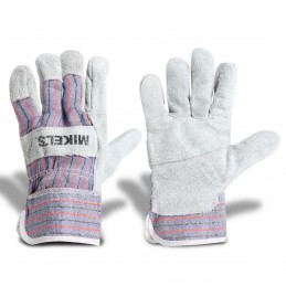 Guantes Para Trabajo De Carnaza Con Loneta MIKELS GCL-2 MIK-GCL-2 MIKELS