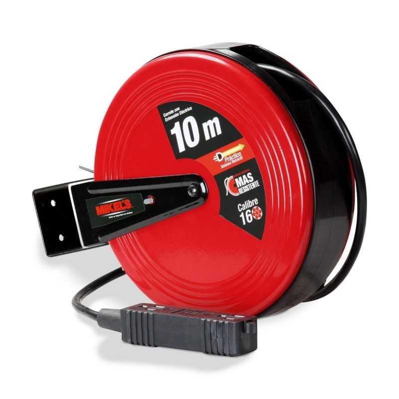 Carrete Con Extensión Eléctrica (10 M) MIKELS CEE-10 MIK-CEE-10 MIKELS