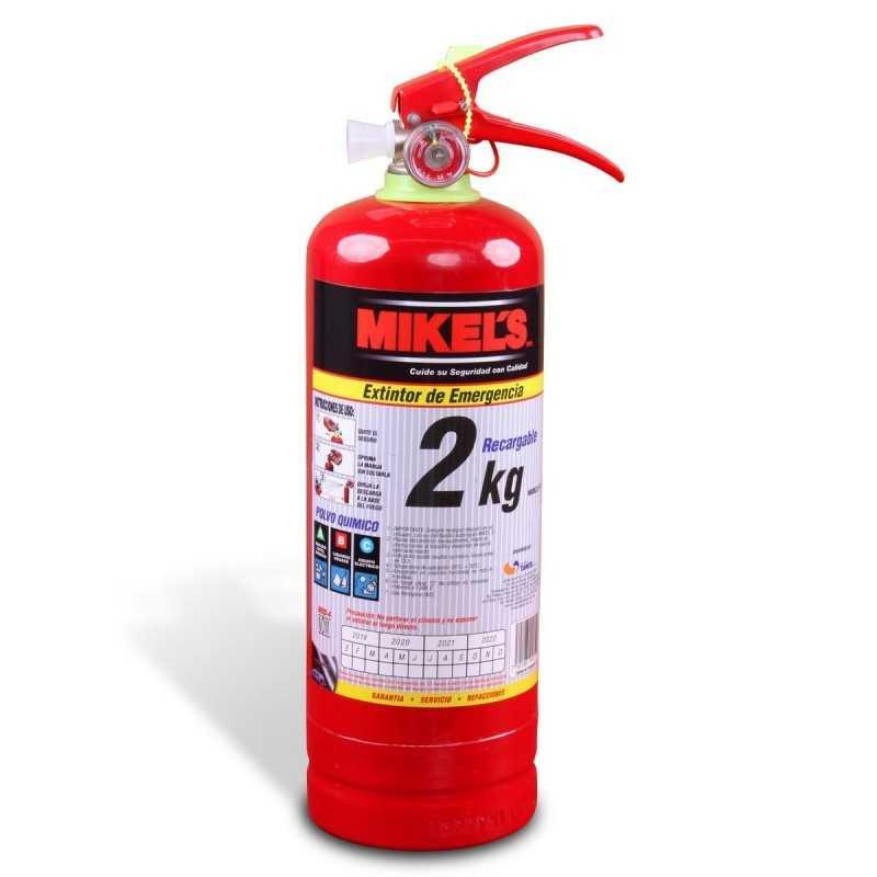 Extintor De Emergencia Recargable 2 Kg MIKELS EE-2 MIK-EE-2 MIKELS