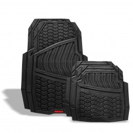 Tapetes Para Auto De Hule, Negro Con Velcro MIKELS TA-5 MIK-TA-5 MIKELS