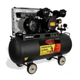 Compresor De Aire 3 Hp Con Banda (60 Lts) MIKELS CA-3HP60 MIK-CA-3HP60 MIKELS