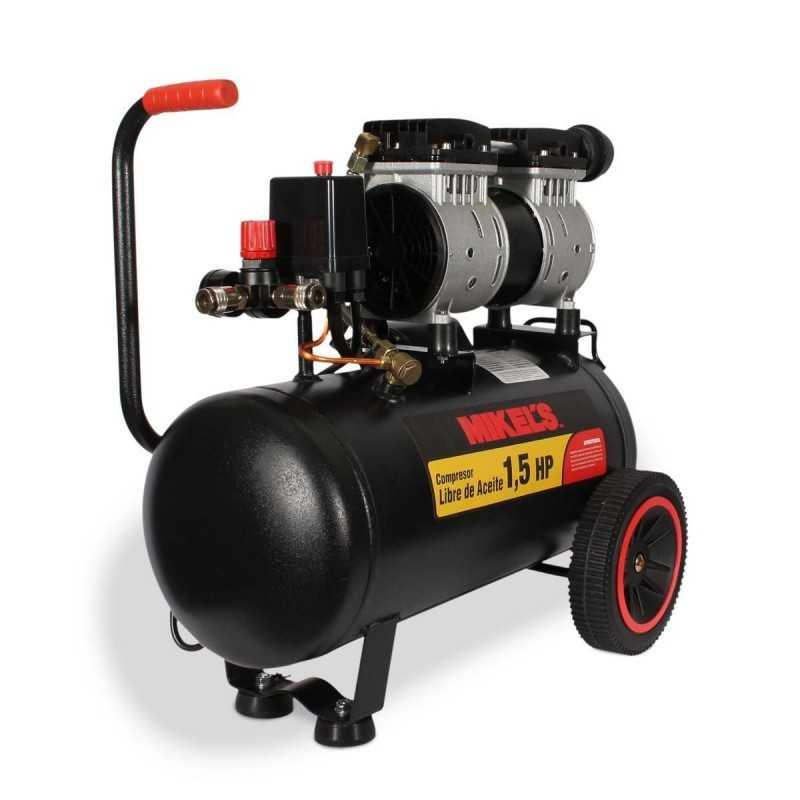 Compresor De Aire 1.5 Hp (24 Lts) Libre De Aceite MIKELS CALA-1.5HP MIK-CALA-1.5HP MIKELS