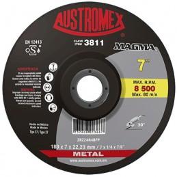 "Disco Para Desbaste Metal 7"" X 1/4"" X 7/8"" Austromex 3811 AUS3811 AUSTROMEX"