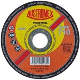 "Disco Abrasivo Para Corte Metal 4 1/2"" X 3/64"" X 7/8"" Austromex 710 AUS710 AUSTROMEX"