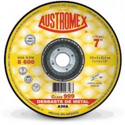 "Disco Para Desbaste Metal 7"" X 1/4"" X 7/8"" Austromex 999 AUSTROMEX AUS999"