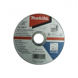 "Disco Abrasivo Corte Metal 4 1/2"" 7/8"" 1/16 Makita B13817 B13817 MAKITA ACCESORIOS"