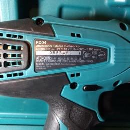 "Atornillador 1/2"" 18 Volts 0-400 0-1,400 Rpm 42/24Nm Li-Io Makita FD04 MAKFD04 MAKITA HERRAMIENTAS"