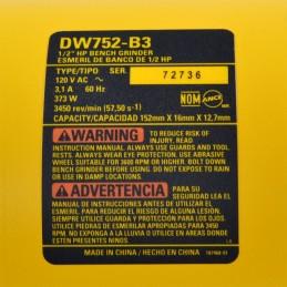 """Esmeril Banco 6"""" 3450 Rpm 3.1 Amp Dewalt DW752-B3 DW752-B3 DEWALT"""