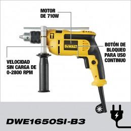 """Rotomartillo V.V.R. De 1/2"""" Con Guantes Y Gafas Dewalt DWE1650SI-B3 DWE1650SI-B3 DEWALT"""