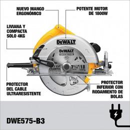 """Sierra Circular 7-1/4"""" Dewalt DWE575-B3 DWE575-B3 DEWALT"""