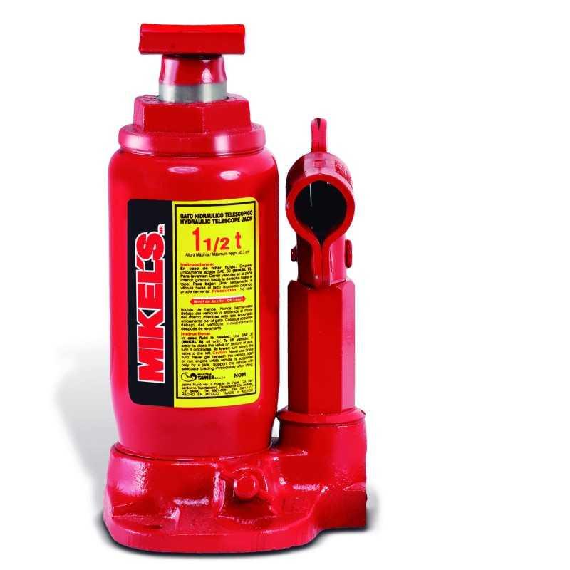 Gato Hidráulico Telescópico De Botella 1.5 T MIKELS GHT-1.5 MIK-GHT-1.5 MIKELS
