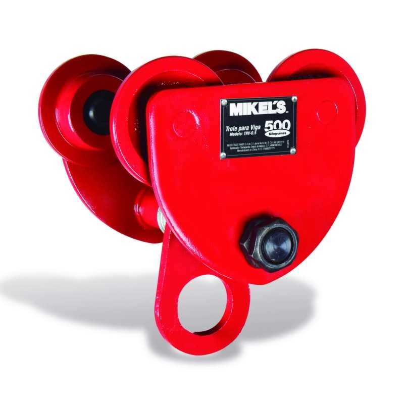 Trole Para Viga 500 Kg Ancho Ajustable MIKELS TRV-0.5 MIK-TRV-0.5 MIKELS