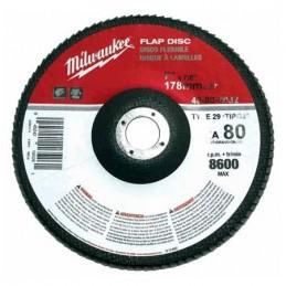 """Disco Laminado Polifan 7"""" X 7/8"""" Grado 60 Zirconia Y Aluminio Milwaukee 48808031 1 AMIL48808031 MILWAUKEE ACCESORIOS"""