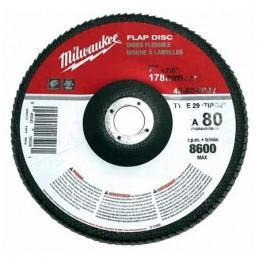 """Disco Laminado Polifan 7"""" X 7/8"""" Grado 80 Zirconia Y Aluminio Milwaukee 48808032 1 AMIL48808032 MILWAUKEE ACCESORIOS"""