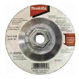 """Disco Abrasivo Desbaste Con Adaptador 4 1/2""""B44270 Makita 741416B 1 741416B MAKITA ACCESORIOS"""