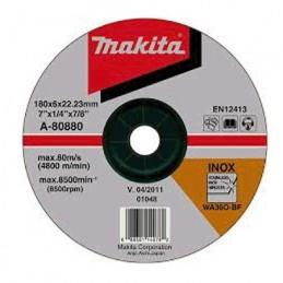 """Disco Abrasivo Desbaste 4"""" 1/2"""" X 7/8"""" Acero Inoxidable B44111 Makita A80868 A80868 MAKITA ACCESORIOS"""