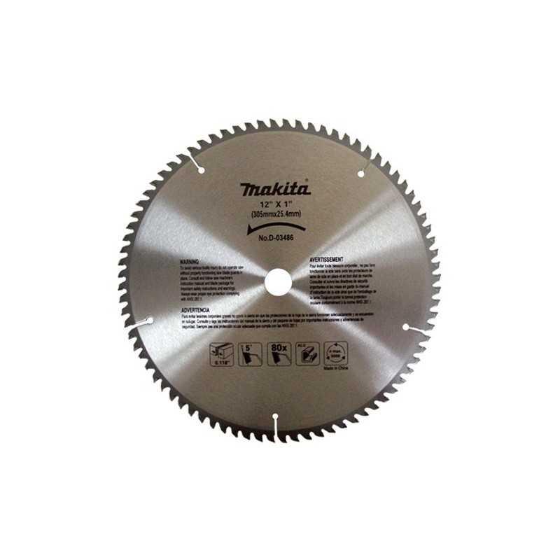 """Disco Sierra Circular T. C. T 12"""" X 1"""" X 80 Dientes Makita A93902 1 A93902 MAKITA ACCESORIOS"""
