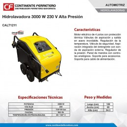 Hidrolavadora 3,000 Watts 230 Volts Alta Presión California Machinery CALT1211 1 CALT1211 CALIFORNIA MACHINERY