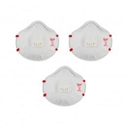 Cubre Bocas Desechable N95 Con Respirador 3Pzas AMIL48734012 MILWAUKEE ACCESORIOS