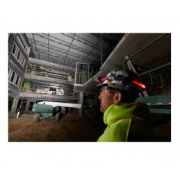 Lámpara De Casco Recargable Usb Beacon De 600 Lúmenes Con Batería Usb+ Cable Usb+ Clips Para Casco Milwaukee 2116-21 MIL2116-...
