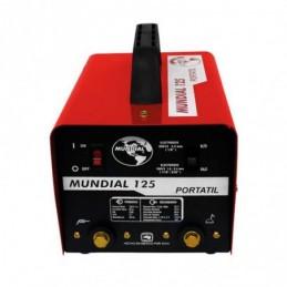 Soldadora De Electrodo Portátil 125 Amperes Con Juego De Cables Soldadoras Mundial Mun125Ca MUN125CA SOLDADORAS MUNDIAL