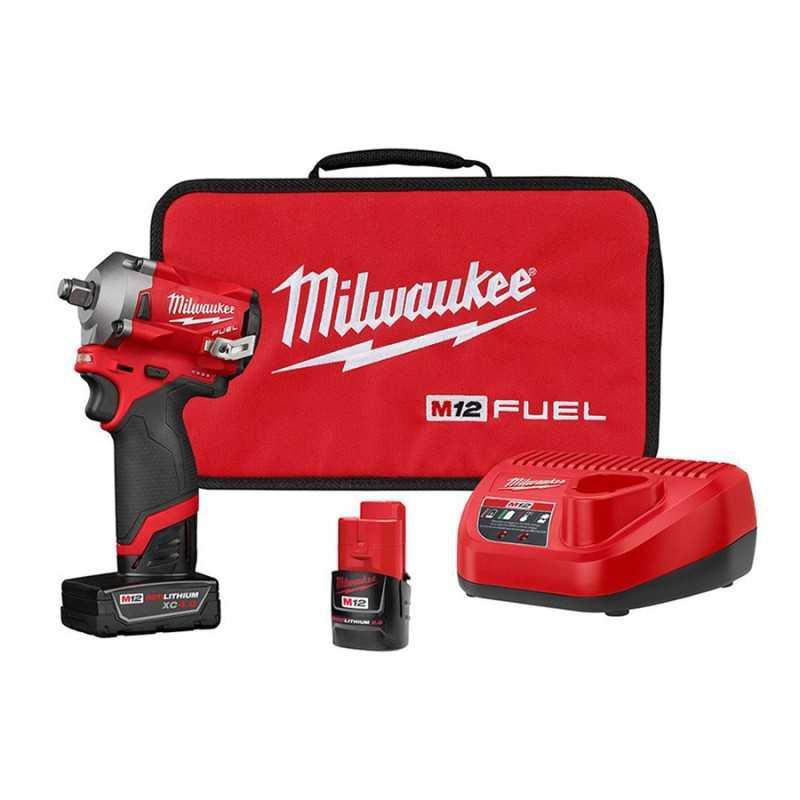 "Llave De Impacto 1/2"" Milwaukee 2555-22 Compacta M12 MIL2555-22 MILWAUKEE"