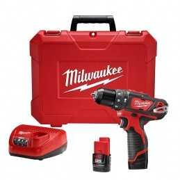 "Destornillador 3/8"" Compacto 12 Volts Li-Ion 0-400, 0-1,500 Rpm Milwaukee 2408-22 MIL2408-22 MILWAUKEE"