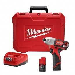 "Llave De Impacto 1/4"" 12 Volts 2,500 Rpm Milwaukee 2462-22 MIL2462-22 MILWAUKEE"