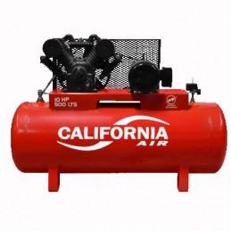 Compresor De Banda 10 Hp 500Lts 220-440V Trifasico CALC500HT10SKIT CALIFORNIA AIR