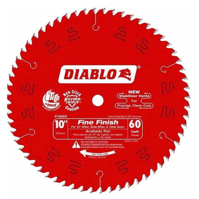 """Disco Sierra Circular 10"""" X 5/8 X 60 DIENTES DIABLO CELA MULT-13248 MULT-13248 HERRAMIENTAS CELA"""