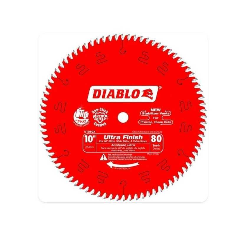 """Disco Sierra Circular 10"""" X 5/8 X 80 DIENTES DIABLO CELA MULT-13249 MULT-13249 HERRAMIENTAS CELA"""