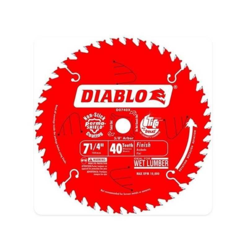 """Disco Sierra Circular 7-1/4"""" X 5/8 X 40 DIENTES DIABLO CELA MULT-13519 MULT-13519 HERRAMIENTAS CELA"""