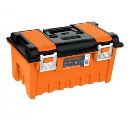 Caja plástica 19' c/compartimentos, naranja, broche metálico TRUPER TRUP-11811 TRUP-11811 TRUPER