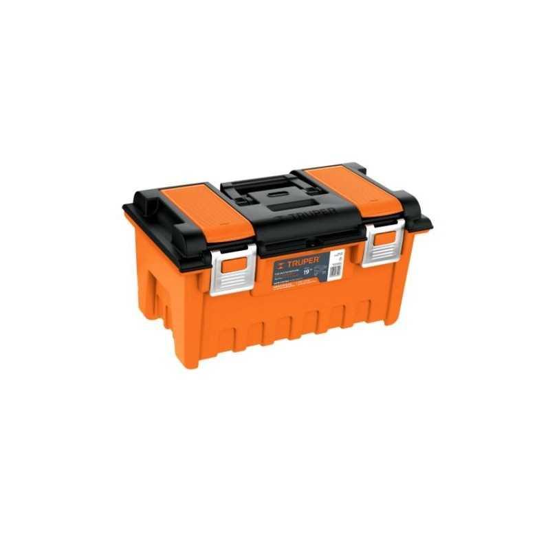 Caja plástica 22' c/compartimentos, naranja, broche metálico TRUPER TRUP-11812 TRUP-11812 TRUPER