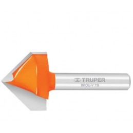 Broca para router, corte en 'V', 1/2' TRUPER TRUP-11466 TRUP-11466 TRUPER
