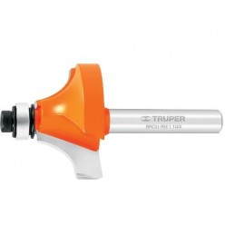 Broca para router, redondeado con moldura, 1' con balero TRUPER TRUP-11472 TRUP-11472 TRUPER