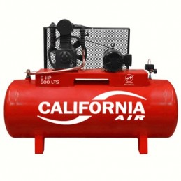 Compresor De Banda 5 Hp 500 Lts Trifasico 220-440V Motor WEG CALIFORNIA C500H500LTKITW C500H500LTKITW CALIFORNIA AIR
