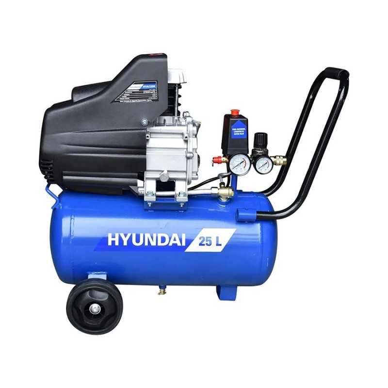 Compresor Direct Drive 25 Litros 2.5 Hp 115 Psi Libre Aceite HYUNDAI HYU-HYAC25K HYU-HYAC25K HYUNDAI