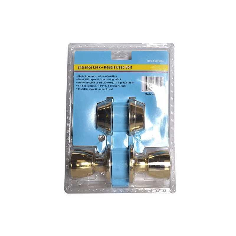Cerradura con Cerrojo Doble HOTECHE HP9006 HP9006 HOTECHE