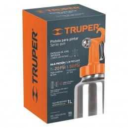 Pistola p/pintar baja presión, naranja, entrada inferior TRUPER TRUP-19000 TRUP-19000 TRUPER