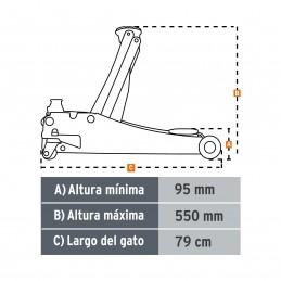 Gato de patín profesional, 3.5 tons, elevación rápida TRUPER TRUP-14802 TRUP-14802 TRUPER