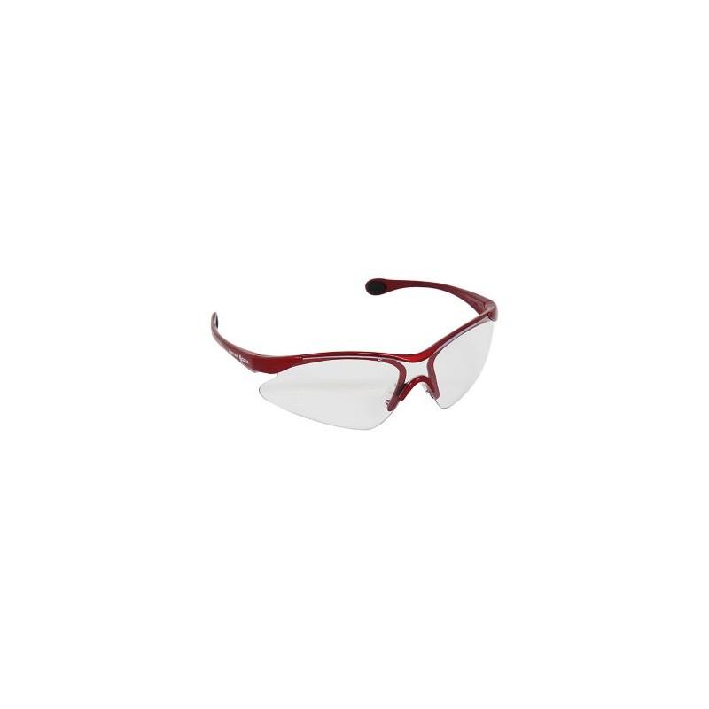 Lente De Seguridad Visión-4000 Mica Transparente, Marco Rojo INFRA 3V4000-T-M-R 3V4000-T-M-R INFRA