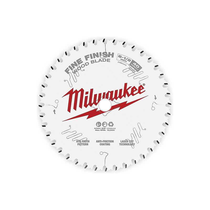 """Sierra Circular De 40 Dientes MILWAUKEE 48-40-0622 Con Acabado Fino 6-1/2"""" AMIL48400622 MILWAUKEE ACCESORIOS"""