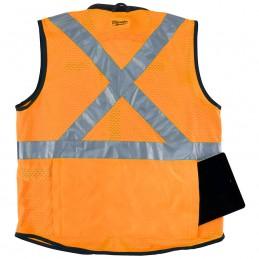 Chaleco de seguridad naranja de alto rendimiento y gran visibilidad: G/XG MILWAUKEE 48735092 AMIL48735092