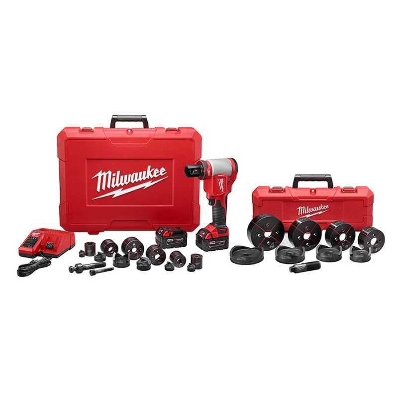 Kit de herramienta perforadora FORCELOGIC™ M18™ de 10 toneladas MILWAUKEE 2676-23 MIL2676-23