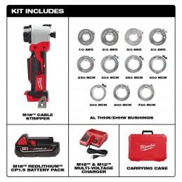 Kit pelacables M18 ™ para Al THHN / XHHW MILWAUKEE 2935AL-21 MIL2935AL-21