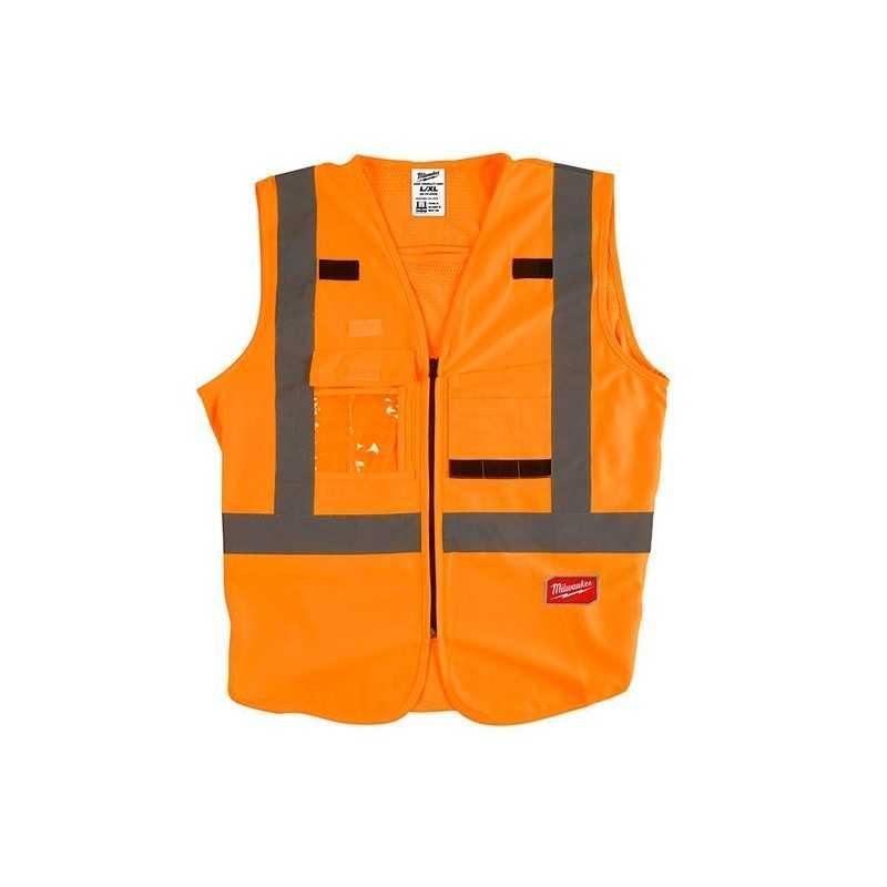 Chaleco De Seguridad Alta Visibiidad Naranja Xxg/Xxxg AMIL48735033 MILWAUKEE