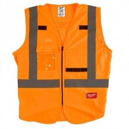 Chaleco De Seguridad Naranja Ultra Reflejante Ch/M AMIL48735071 MILWAUKEE